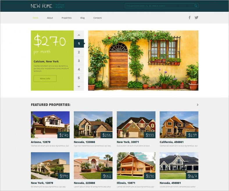 Real Estate Agency Responsive WordPress Themes
