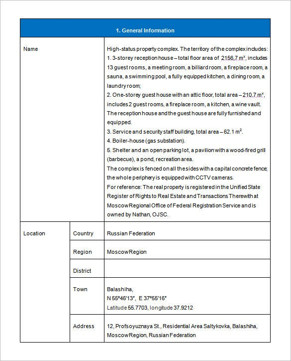 Investment Proposal Template   Free Sample Example Format
