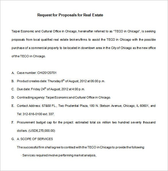 real estate marketing proposal word download