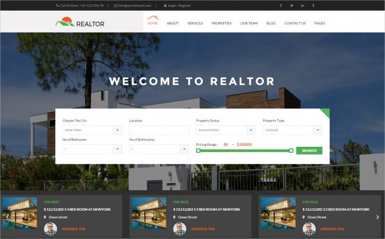 realtor responsive real estate wordpress theme 788x490
