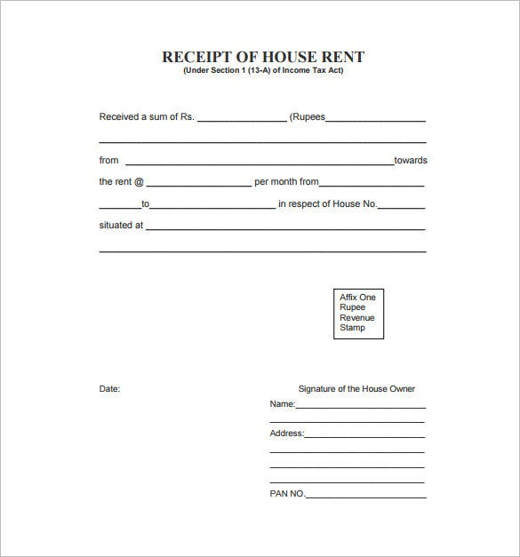 Sample Receipt Format Download  Basic Receipt Template