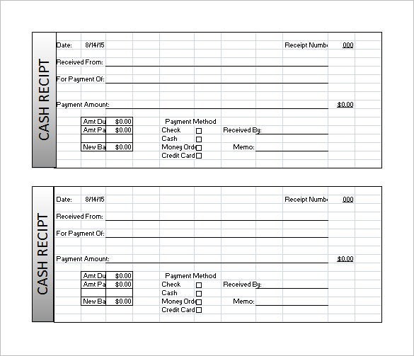 Receipt Template Excel Format Download  Invoice Template On Excel