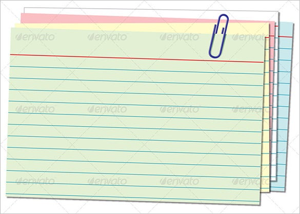 Index Card Template   Free Sample Example Format Download