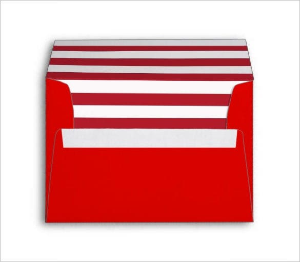 red stripped liner envelope template