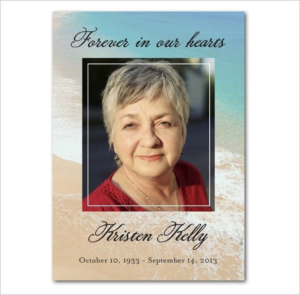 16 obituary card templates free printable word excel for Funeral memory cards free templates