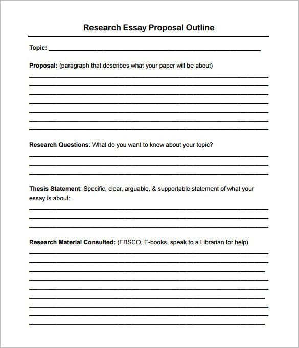 Proposals for research papers