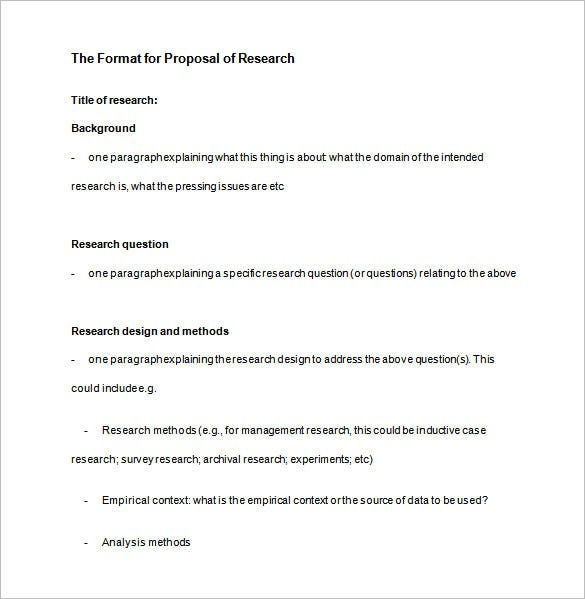 writing research proposal outline