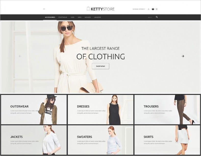 Responsive Apparel Online Store VirtueMart Template