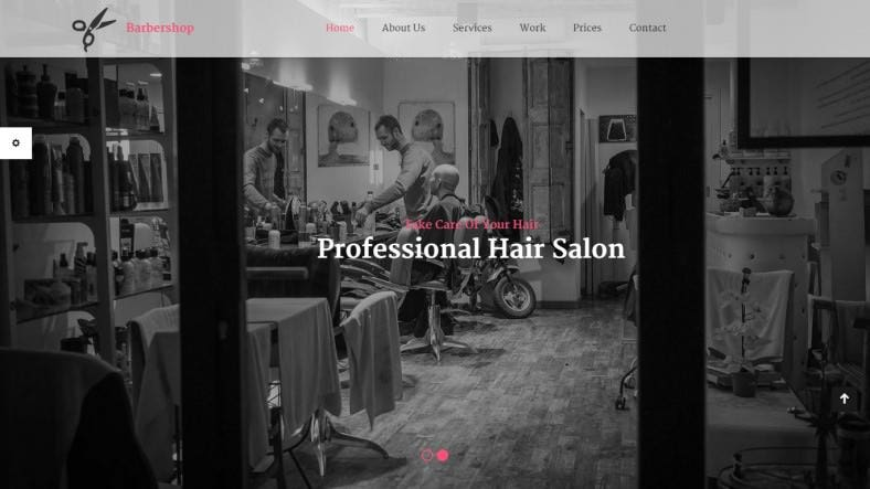 Barber Shop Website Templates & Themes | Free & Premium | Free ...