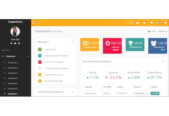 responsive bootstrap admin html template