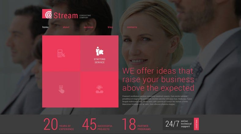 15 consulting joomla website templates themes free premium responsive business consulting company joomla template free demo fbccfo Images