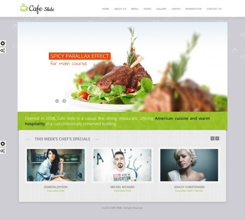 Responsive Cafe HTML5 Website Template