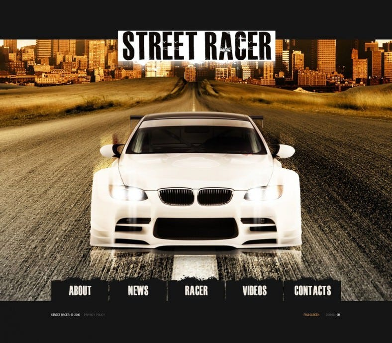 Responsive Car Racing Flash Template
