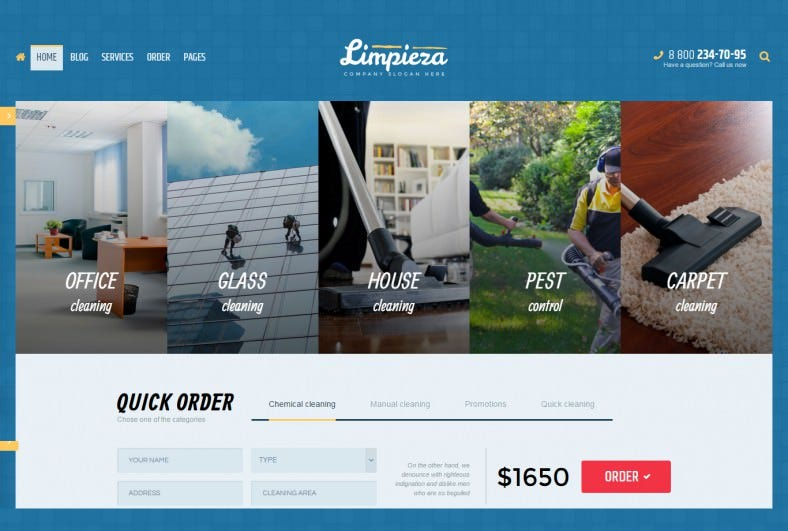 Responsive Cleaning Company WordPress Theme