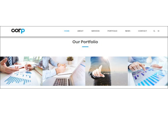 responsive corporate business html5 template