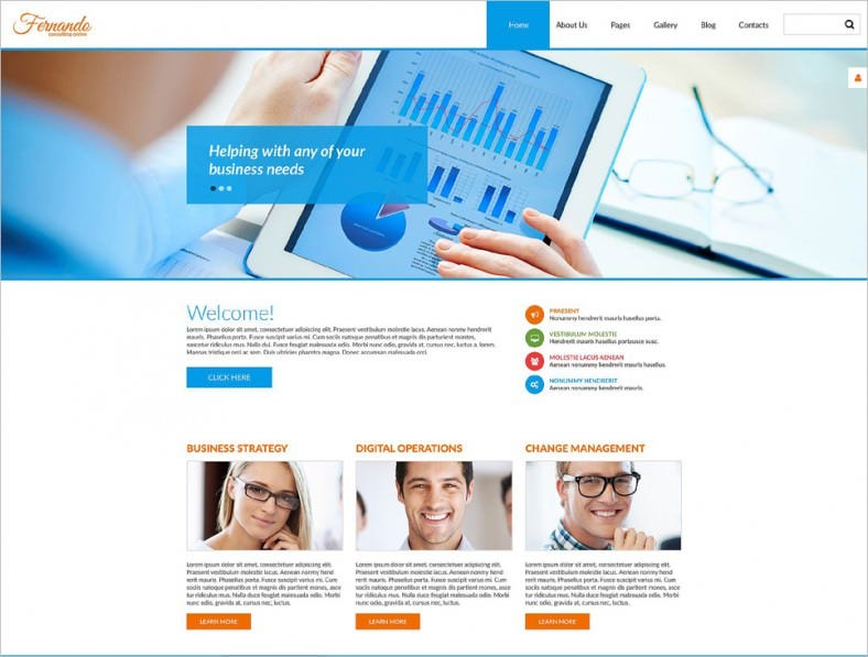 Responsive Corporate Consulting Joomla Template