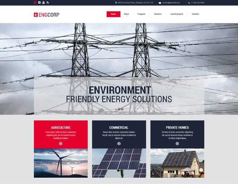 Responsive Energy Industry Website Template