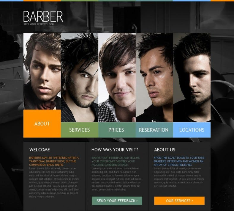 Responsive Hair Salon Turnkey Website