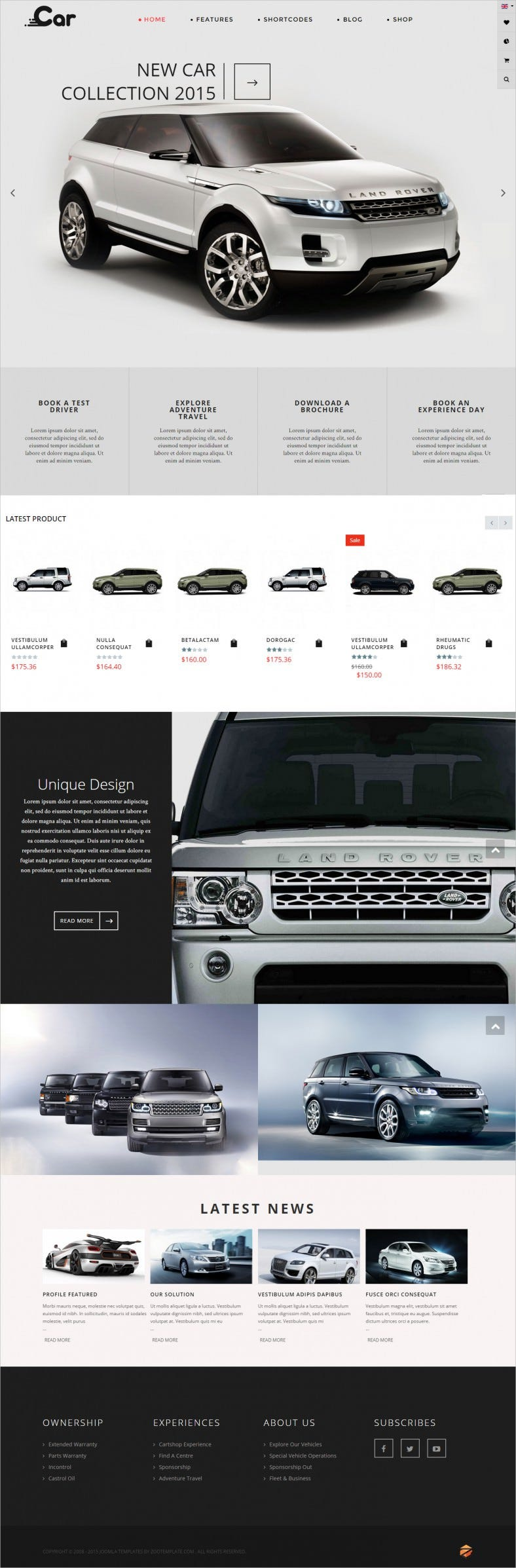 Responsive Joomla Car Retail Template