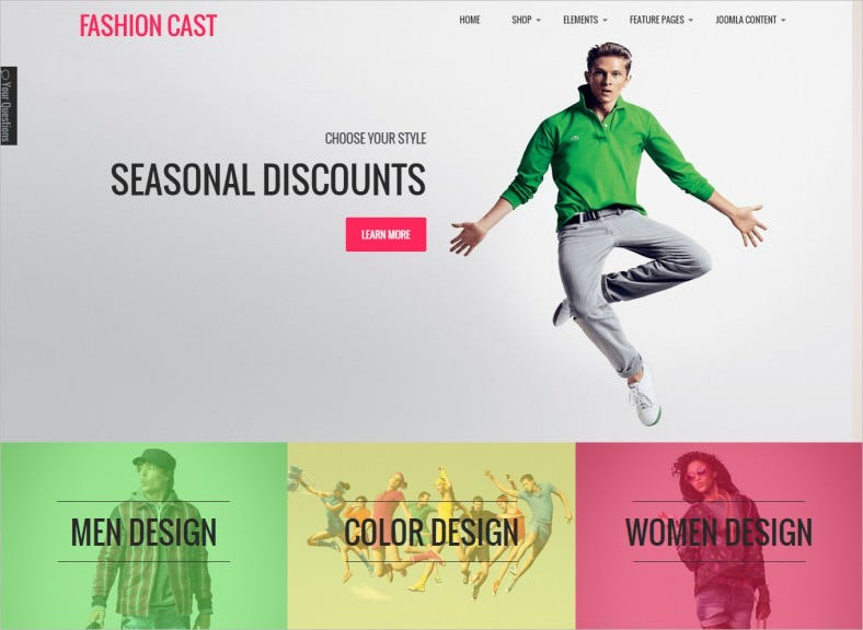 Responsive Joomla VirtueMart Template for Fashion Cast