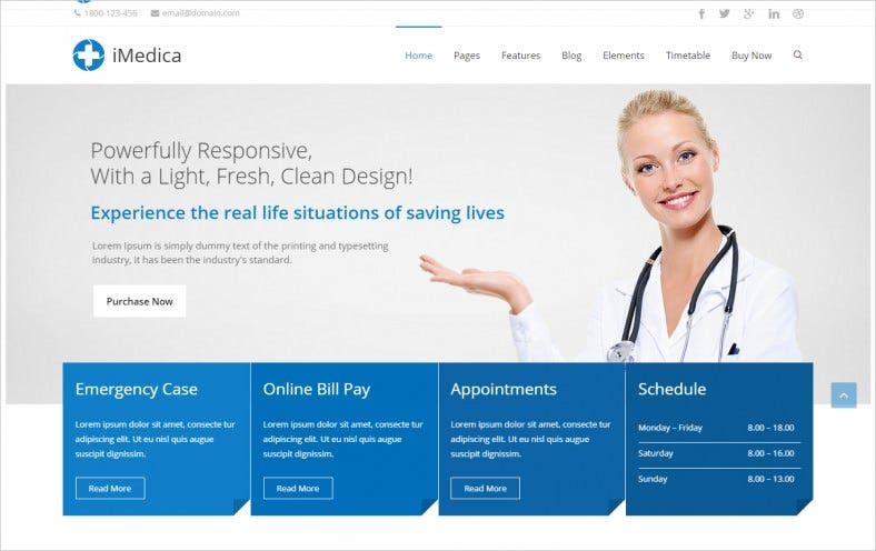 Responsive Medical & Health WP Theme