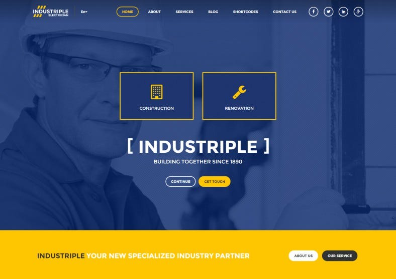 Responsive Multi Industrial WordPress Theme
