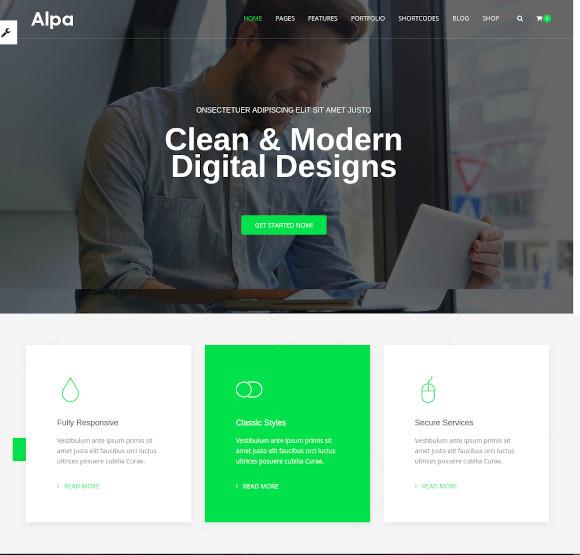 responsive multipurpose html5 website template