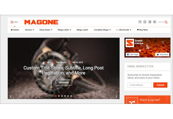 responsive news magazine blogger template