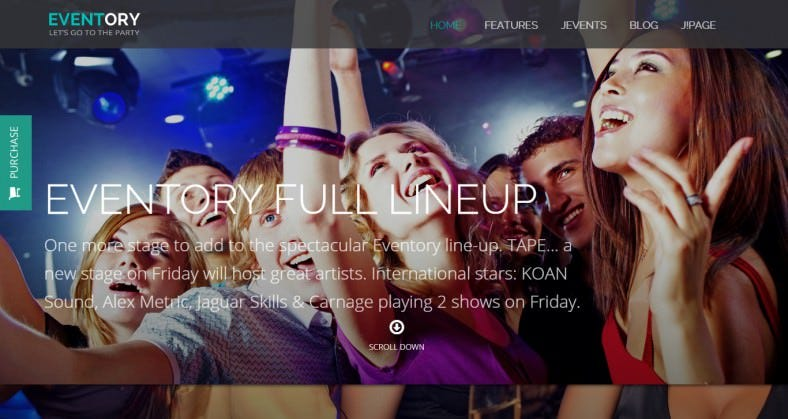 Responsive Night Club Events Joomla Template