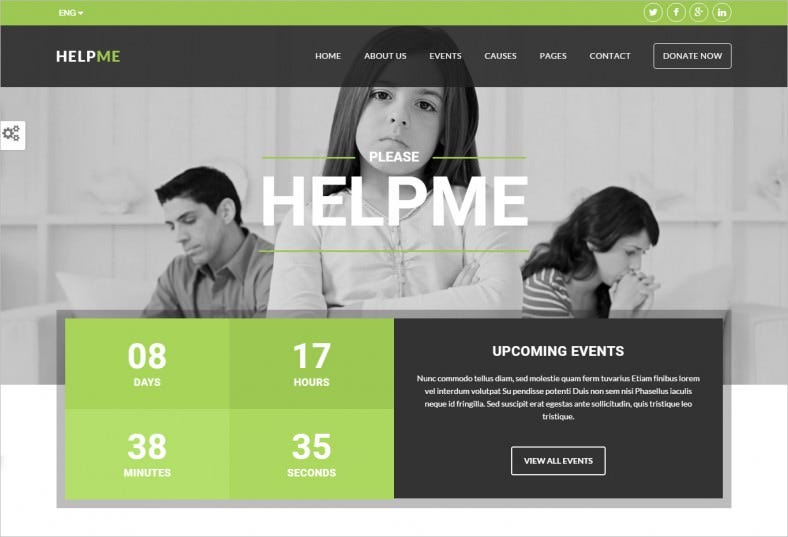 Responsive Non-Profit Charity Website Template