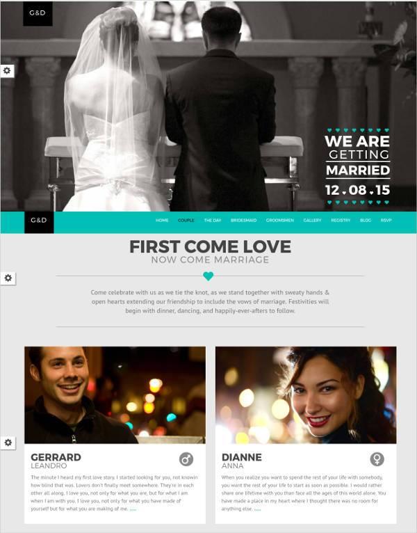 26 Free Wedding Website Themes & Templates | Free & Premium Templates