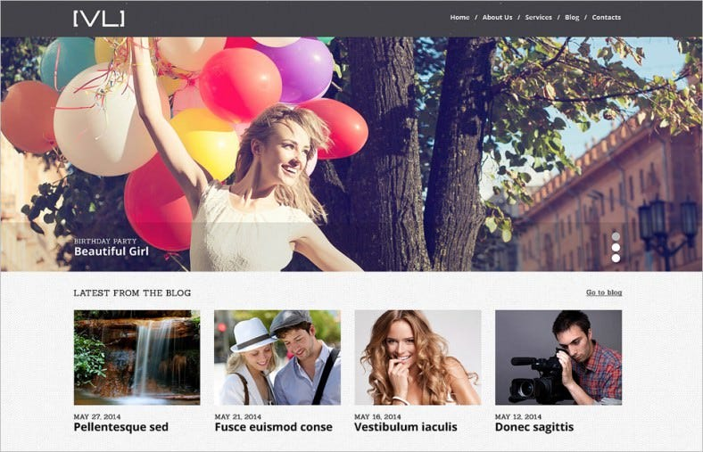 Responsive Photography & Videography WordPress Theme