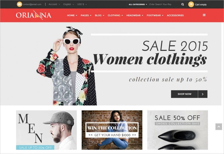 Responsive Retail Fashion Store Joomla Template