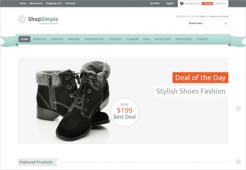 Responsive Retail Shopping Cart Template