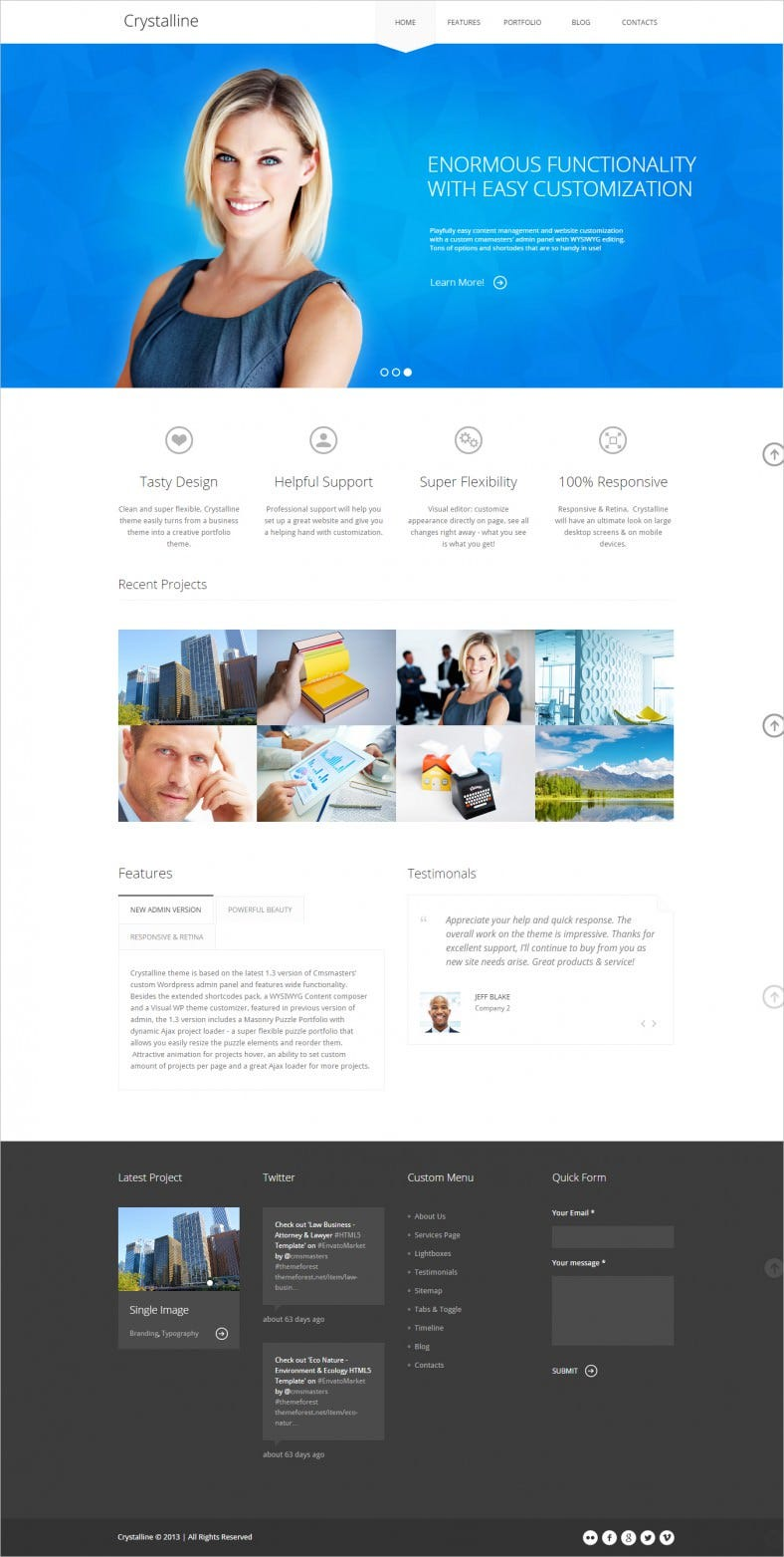 Responsive & Retina Ready Template for Security Service