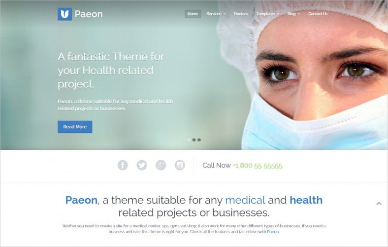 Responsive Slider WordPress Theme for Medical
