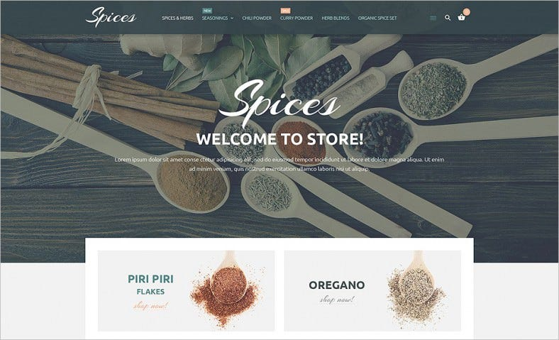 Responsive Spices Store Ecommerce Magento Theme