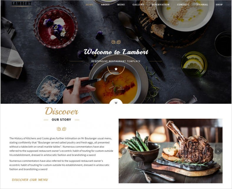 Responsive Website Template for Cafe,Pub