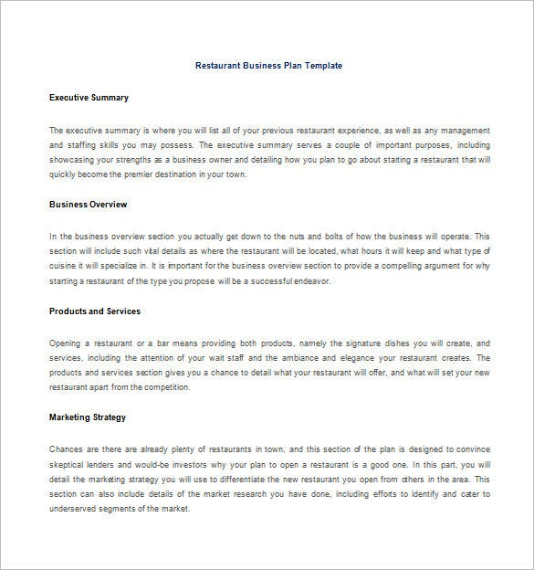 Restaurant business plan template trattorialeondoro restaurant business plan template flashek