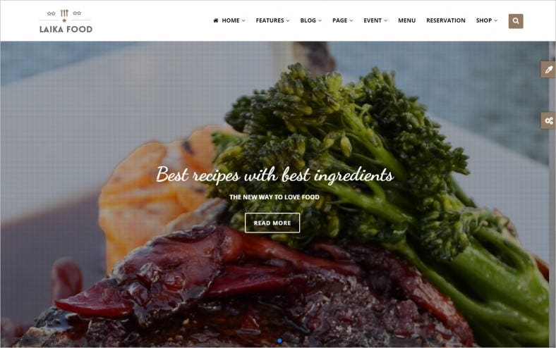 Restaurant, Cafe & Food Drupal Theme