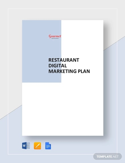 restaurant digital marketing plan template