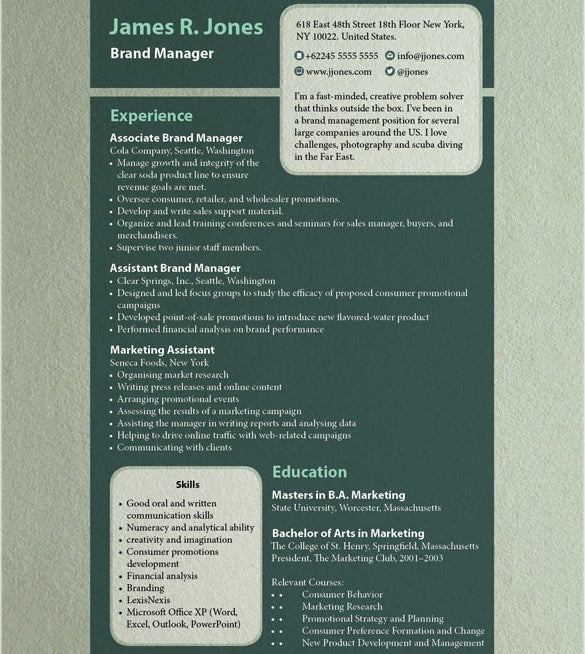 resume in design free download