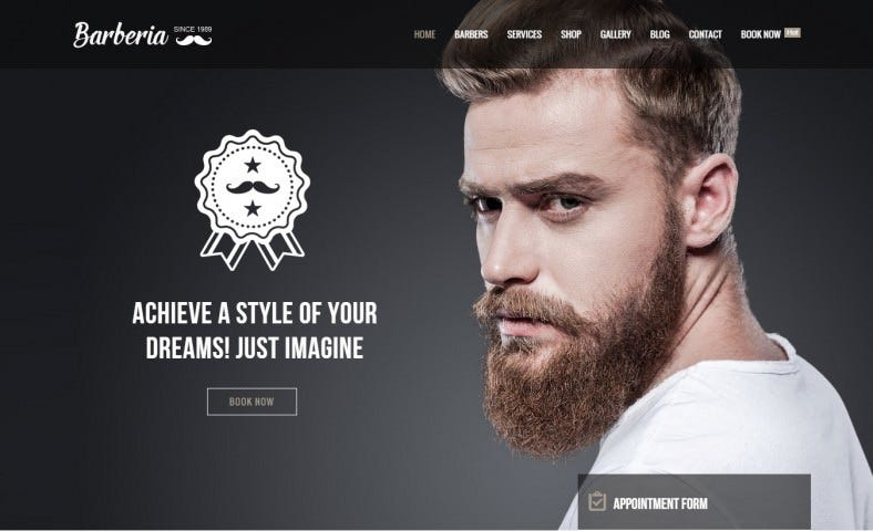 Retina Ready Barber Hair Salon Responsive Template