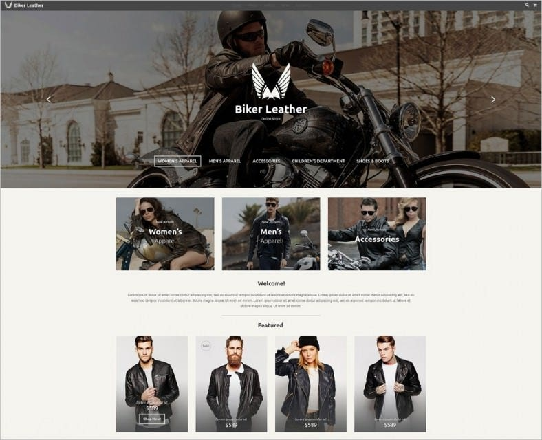 Retina Ready ECommerce Website Template