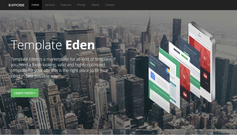 retina ready single page website template 788x449