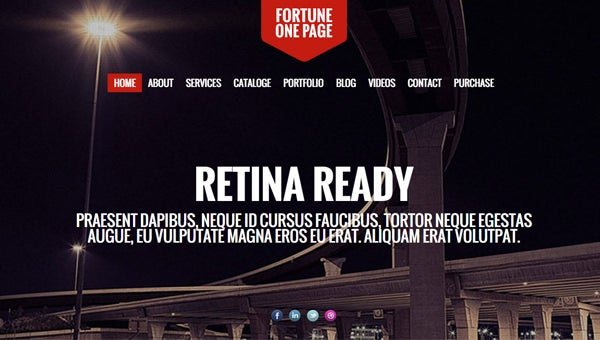 retina ready website templates