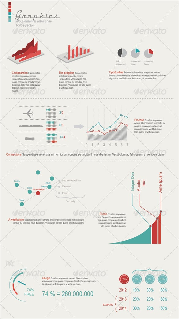 retro premium infographic element download