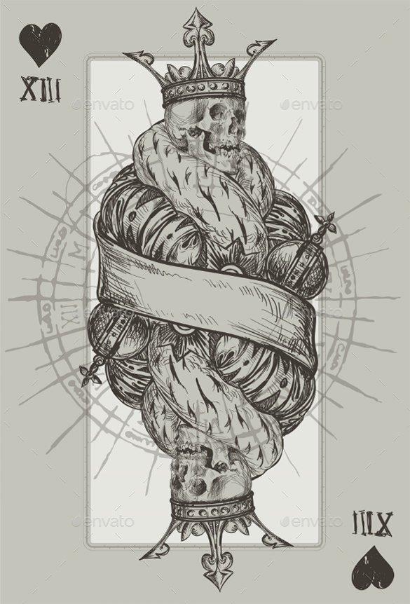 retro skeleton king tattoo download1