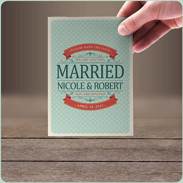 retro wedding anniversary card illustration