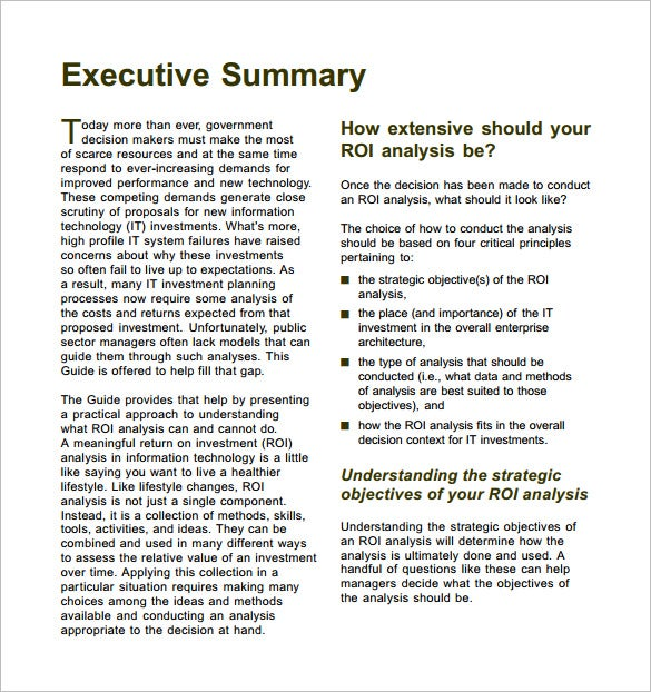 Investment Prospectus Example - Ex
